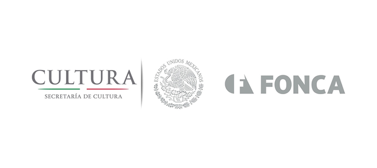 Secretaria de Cultura, Estados Unidos Mexicanos, and Fonca logos